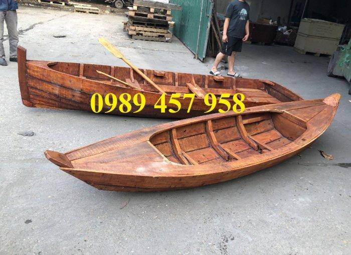 Mẫu thuyền gỗ đẹp trang trí nhà hàng, Thuyền gỗ trưng bày quán hải sản, Thuyền gỗ trang trí 3m13