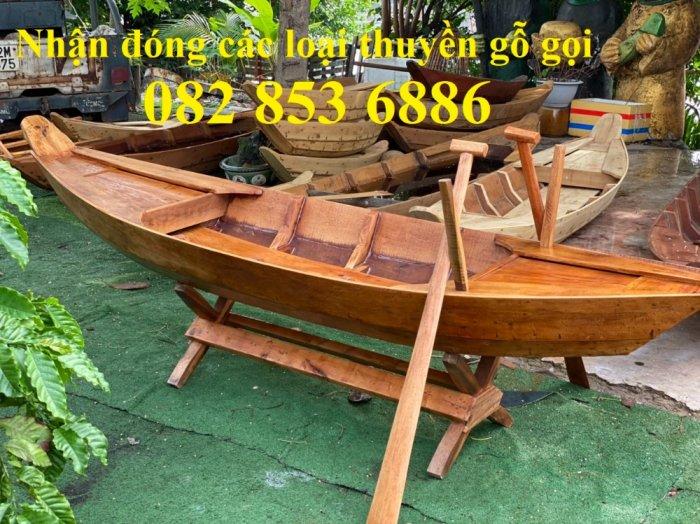 Mẫu thuyền gỗ đẹp trang trí nhà hàng, Thuyền gỗ trưng bày quán hải sản, Thuyền gỗ trang trí 3m10