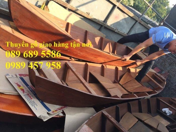 Mẫu thuyền gỗ đẹp trang trí nhà hàng, Thuyền gỗ trưng bày quán hải sản, Thuyền gỗ trang trí 3m8
