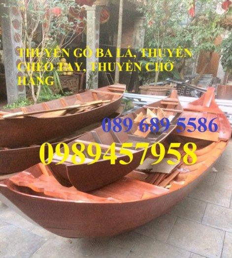 Mẫu thuyền gỗ đẹp trang trí nhà hàng, Thuyền gỗ trưng bày quán hải sản, Thuyền gỗ trang trí 3m7