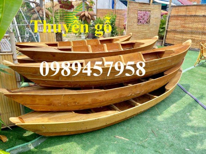 Thuyền gỗ trang trí nhà hàng, Thuyền gỗ bày hải sản, Thuyền chụp ảnh6
