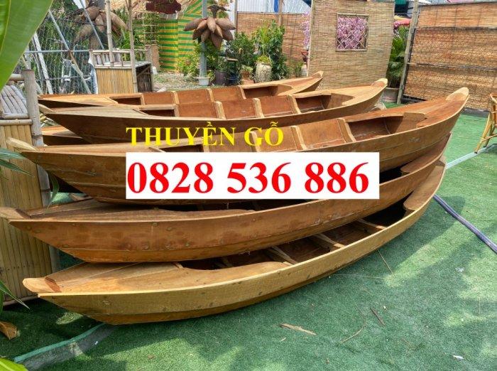 Thuyền gỗ trang trí nhà hàng, Thuyền gỗ bày hải sản, Thuyền chụp ảnh5
