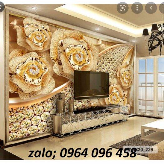 Tranh gạch men 3d trang trí phòng khách - BVC36