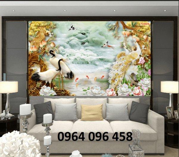 Tranh gạch men 3d trang trí phòng khách - BVC30