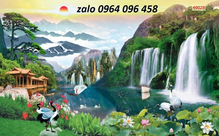Tranh gạch 3d ốp tường mẫu phong cảnh thiên nhiên - 656XP2