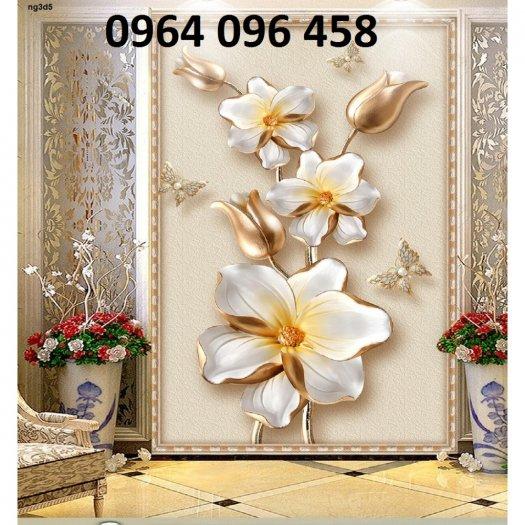 Tranh gạch 3d hoa ngọc - 54SM17