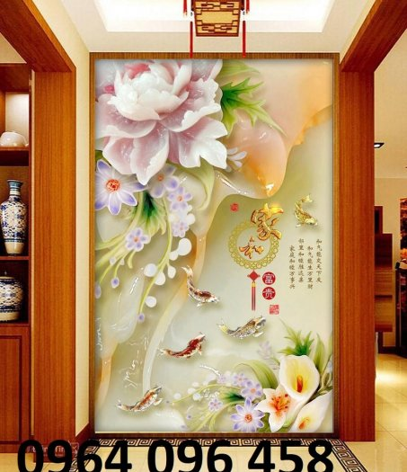 Tranh gạch 3d hoa ngọc - 54SM16
