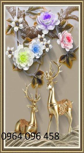 Tranh gạch 3d hoa ngọc - 54SM14