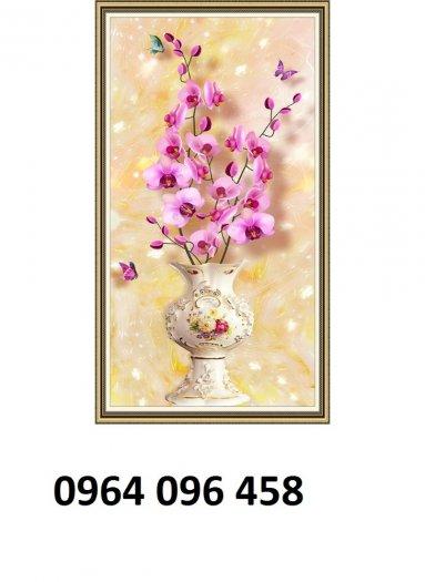 Tranh gạch 3d hoa ngọc - 54SM13