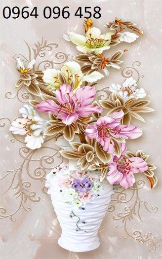 Tranh gạch 3d hoa ngọc - 54SM12