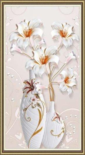 Tranh gạch 3d hoa ngọc - 54SM11