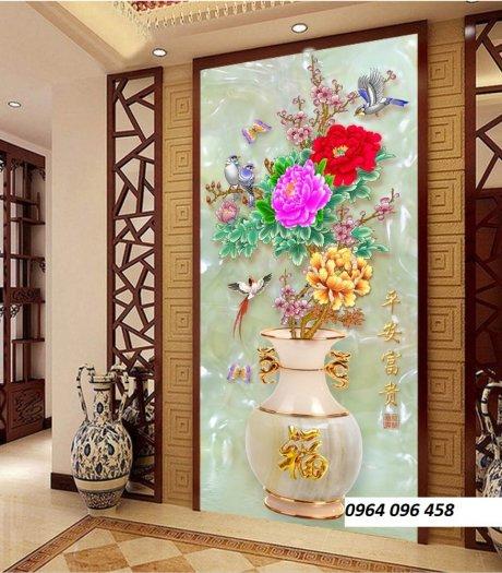 Tranh gạch 3d hoa ngọc - 54SM9