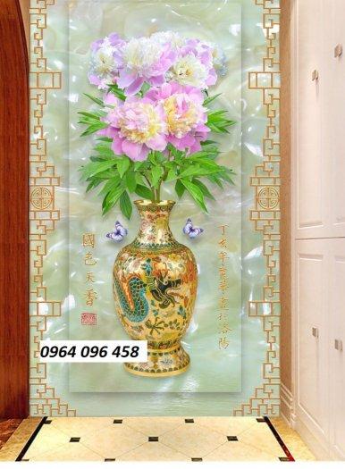 Tranh gạch 3d hoa ngọc - 54SM6