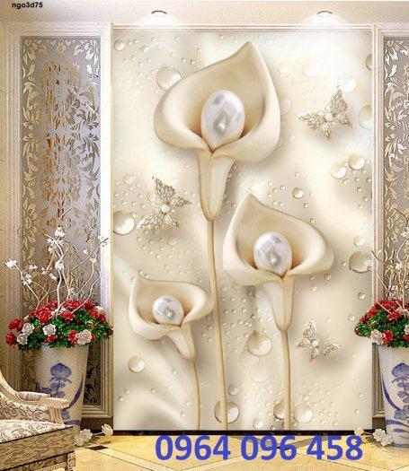 Tranh gạch 3d hoa ngọc - 54SM5