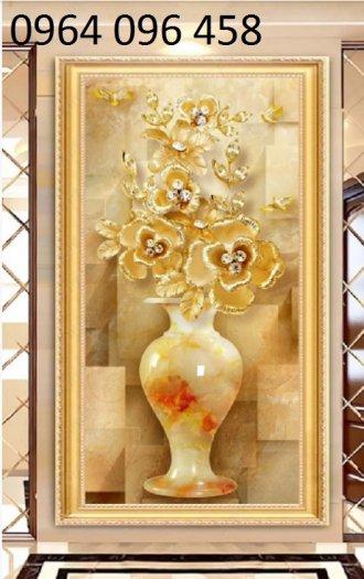 Tranh gạch 3d hoa ngọc - 54SM3