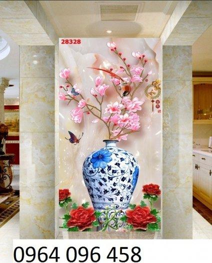 Tranh gạch 3d hoa ngọc - 54SM2