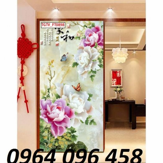 Tranh gạch 3d hoa ngọc - 54SM1