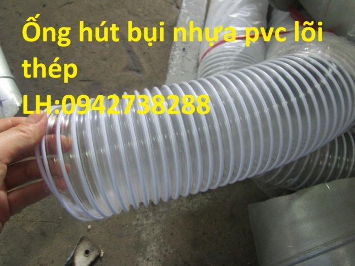 Ống gió bụi trắng- ống hút bụi nhựa PVC lõi thép- ống thông gió2