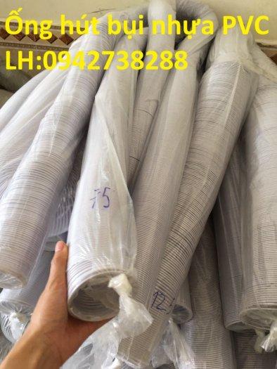 Ống gió bụi trắng- ống hút bụi nhựa PVC lõi thép- ống thông gió1