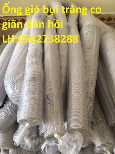 Ống gió bụi trắng- ống hút bụi nhựa PVC lõi thép- ống thông gió0