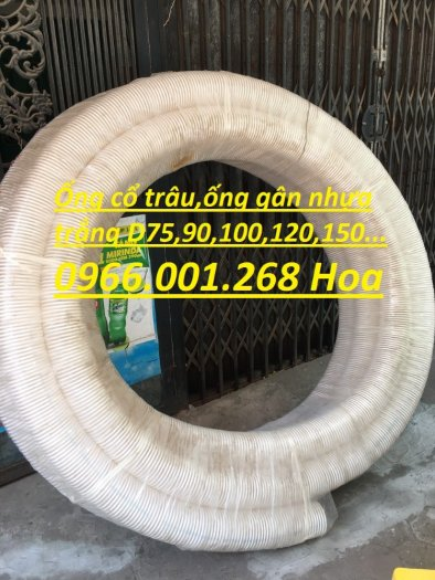 Báo giá đại lý ống gân nhựa trắng , ống cổ trâu , ống gân xoắn phi 50,60,76,90,100 giá tốt4