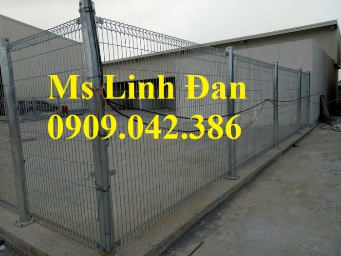 Hàng rào mạ kẽm nhúng nóng, hàng rào lưới thép mạ kẽm9