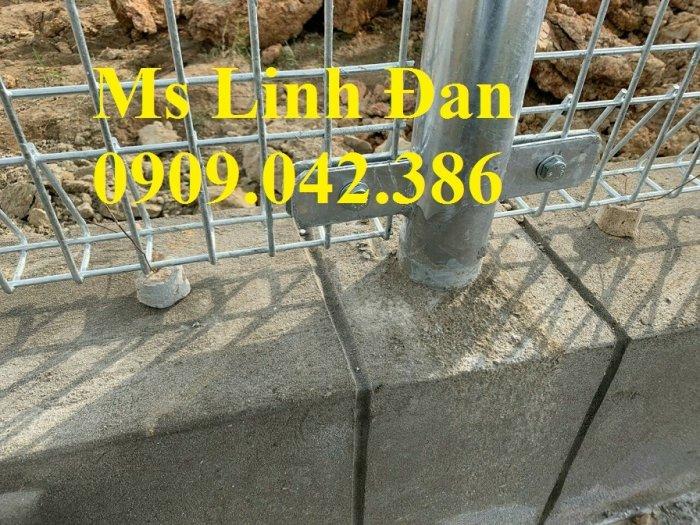 Hàng rào mạ kẽm nhúng nóng, hàng rào lưới thép mạ kẽm3