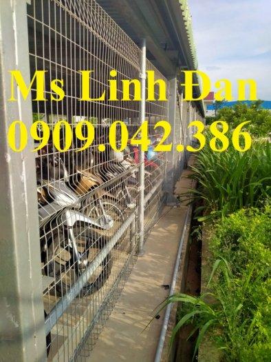 Hàng rào mạ kẽm nhúng nóng, hàng rào lưới thép mạ kẽm1