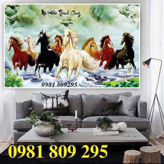 Gạch tranh 3d ngựa - tranh mã đáo phong thủy2