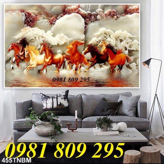 Gạch tranh 3d ngựa - tranh mã đáo phong thủy1