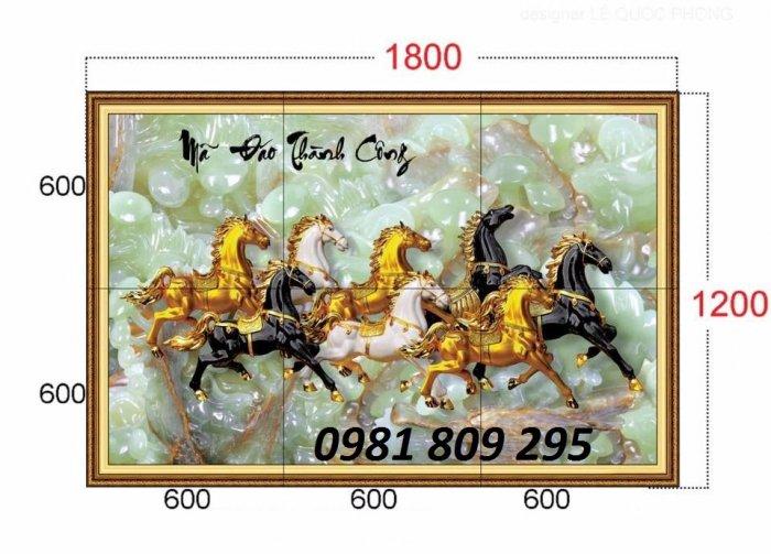 Gạch tranh 3d ngựa - tranh mã đáo phong thủy0