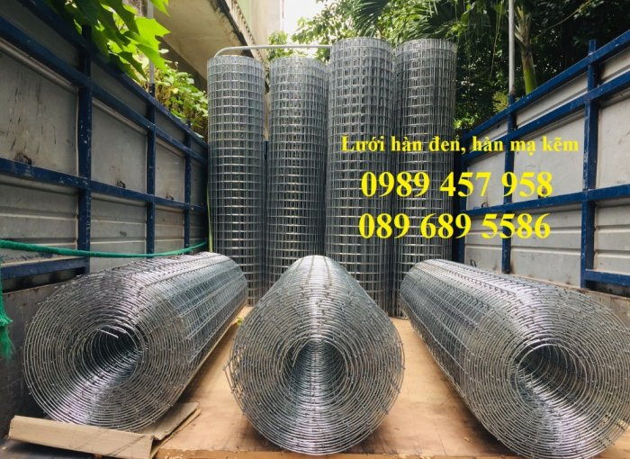 Lưới thép đen D3 ô 50x50, 100x100, Lưới mạ kẽm hàng rào D4 200x2004