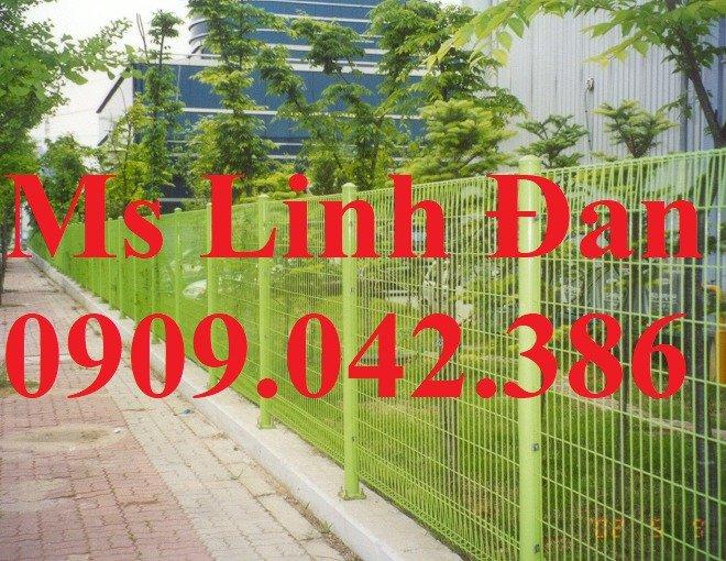 Hàng rào lưới thép sơn tĩnh điện, lắp đặt hàng rào lưới thép sơn tĩnh điện,2