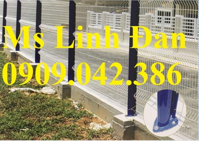 Lưới thép hàng rào sơn tĩnh điện d4, d5, d6,1