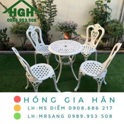Bàn ghế nhôm đúc sân vườn Hồng Gia Hân MS9130