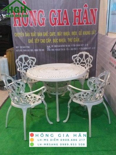 Bàn ghế nhôm đúc sân vườn Hồng Gia Hân MS9140