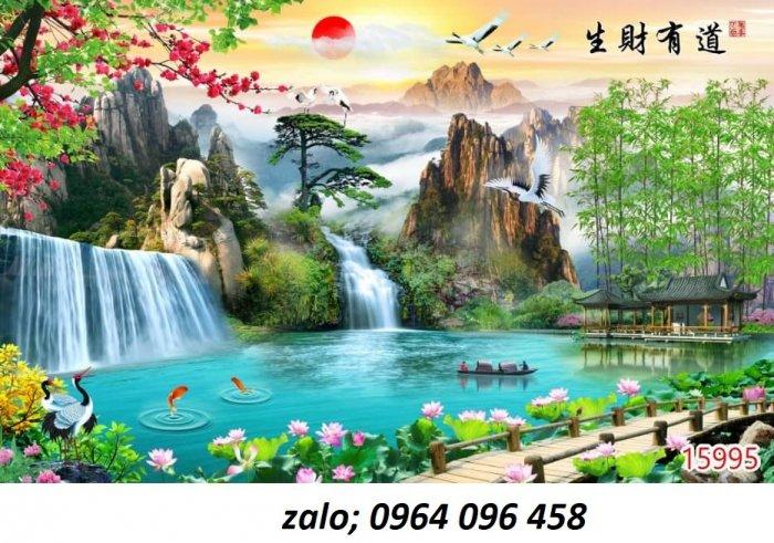 Tranh 3d - tranh gạch 3d ốp tường phong cảnh - CC437