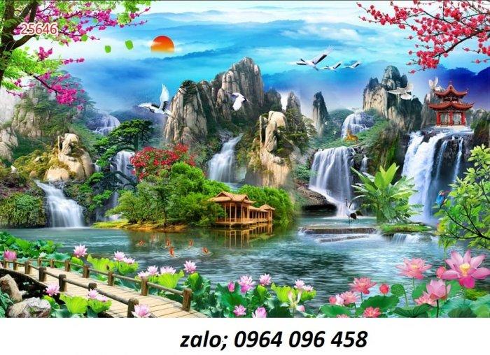 Tranh 3d - tranh gạch 3d ốp tường phong cảnh - CC436