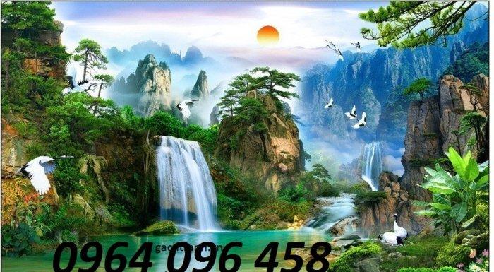 Tranh 3d - tranh gạch 3d ốp tường phong cảnh - CC433