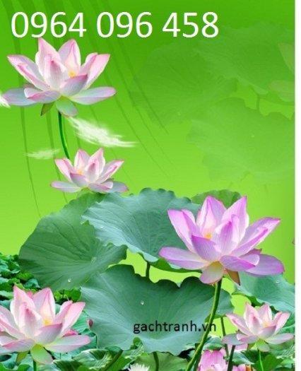 Tranh hoa sen 3d - tranh gạch 3d hoa sen - 565XM0