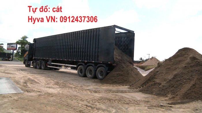 Sàn Tự Đổ Hyva Moving Floor xe tải thùng, container -0912 437 3063