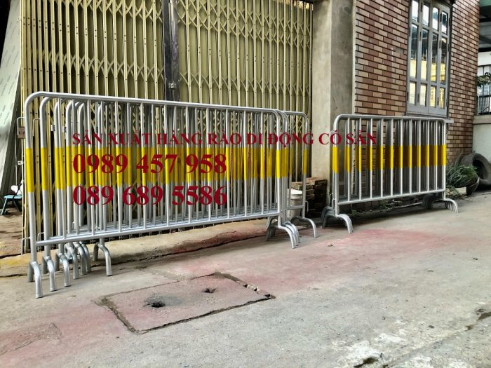 Hàng rào di động có bánh xe, hàng rào di động inox304, Hàng rào phản quang1