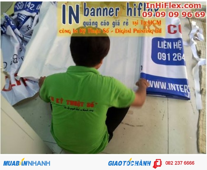 Banner quảng cáo thường được treo phía ngoài các cửa hàng, nhà hàng, quán ăn,…...