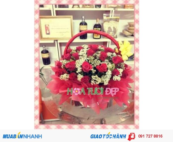 Hoa tươi tình yêu - Hoa Chúc Mừng CM121