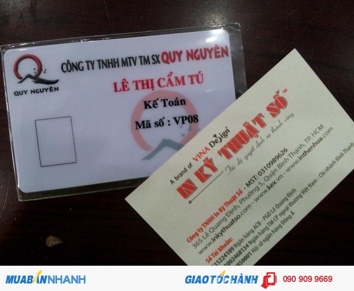 Thẻ nhân viên tích hợp thẻ ATM