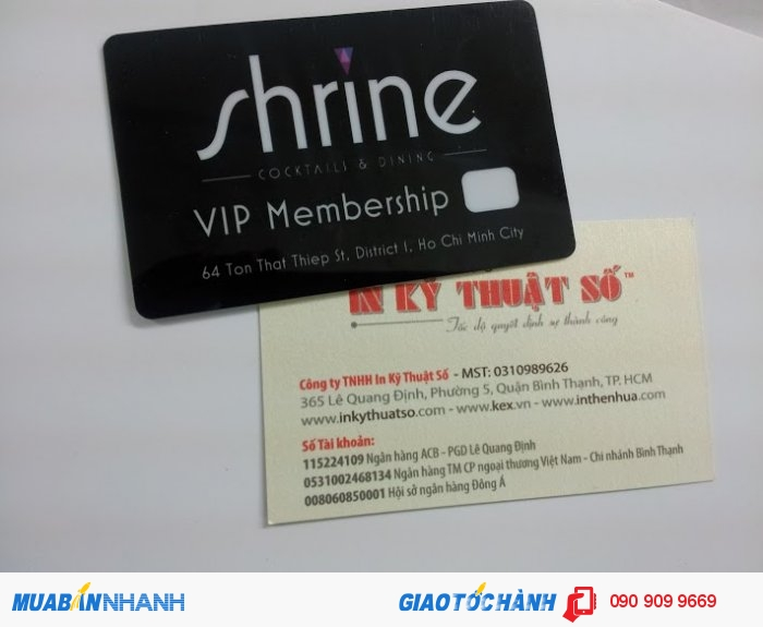 In thẻ Vip chăm sóc khách hàng