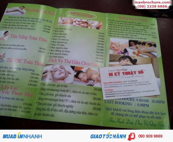 Thiết kế in brochure hiệu quả với đầy đủ thông tin sản phẩm, doanh nghiệp