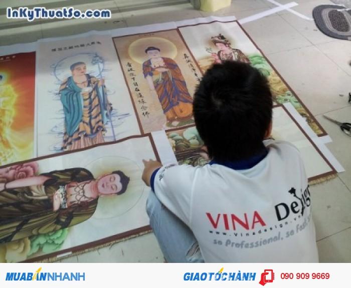 In tranh silk đẹp, in tranh silk chủ đề tôn giáo tại In Kỹ Thuật Số | In tranh th�...