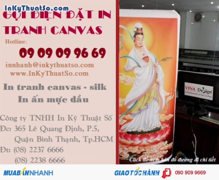 Liên hệ hotline 0909099669 để nhận báo giá in tranh canvas, in canvas, in vải bố canva...