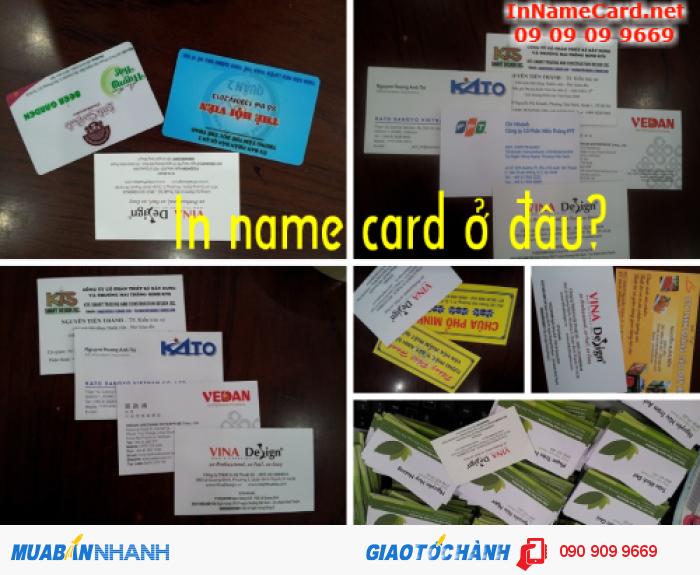 In name card chất lượng cao tại quận Bình Thạnh